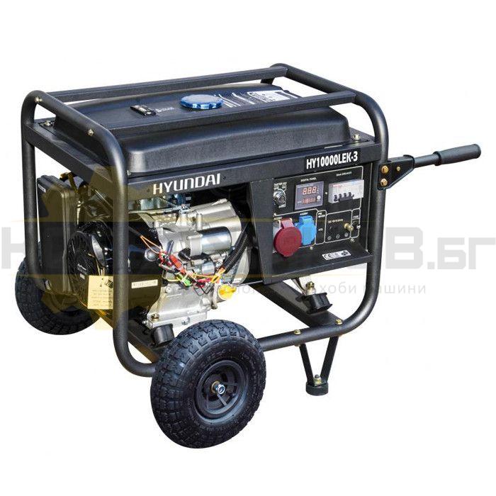 Бензинов трифазен генератор с ел старт и AVR HYUNDAI HY10000LEK/Т - 1