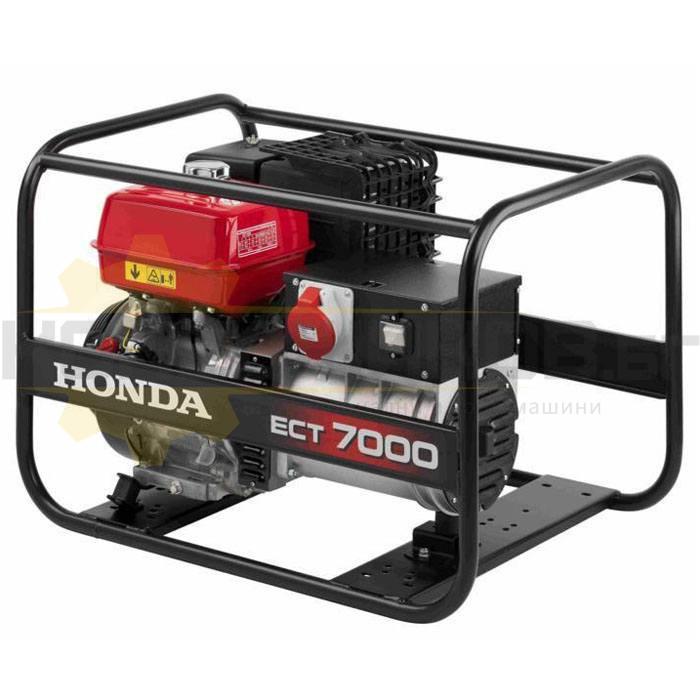 Бензинов трифазен генератор HONDA ECT7000 - 1