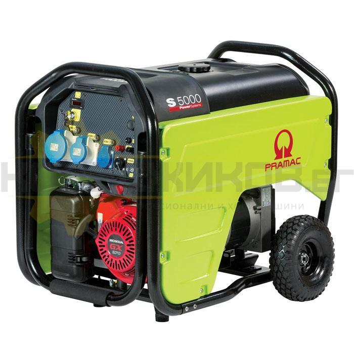 Бензинов трифазен генератор с ел старт PRAMAC S5000 - 1