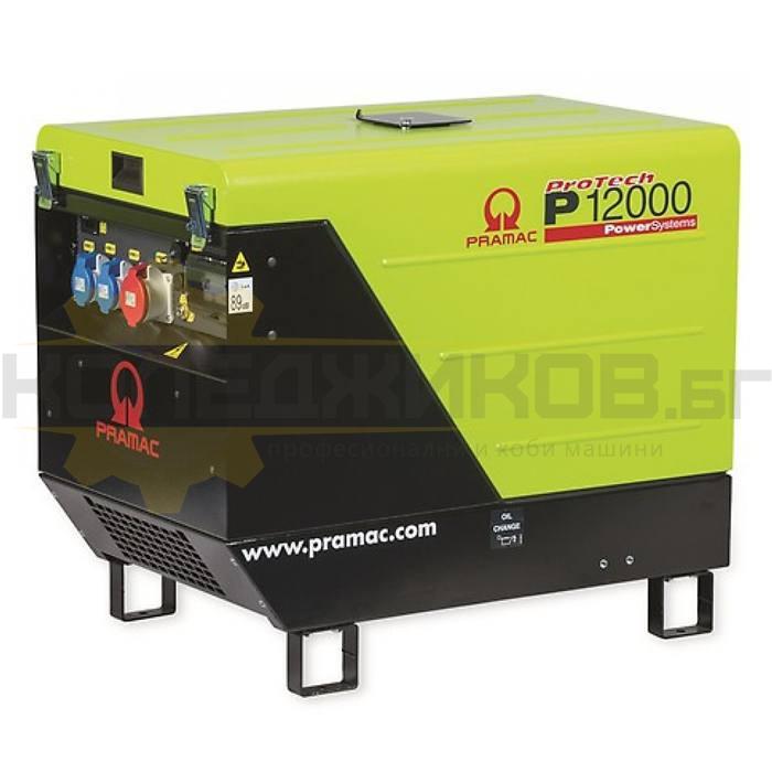 Бензинов трифазен генератор с ел старт PRAMAC P12000 - 1