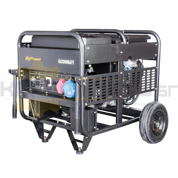 Бензинов трифазен генератор с ел старт и AVR ITC POWER GG 12000LE/T - 1