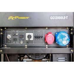 Бензинов трифазен генератор с ел старт и AVR ITC POWER GG 12000LE/T - 4