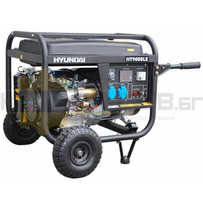 Бензинов монофазен генератор с ел старт и AVR HYUNDAI HY 9000 LEK - 1