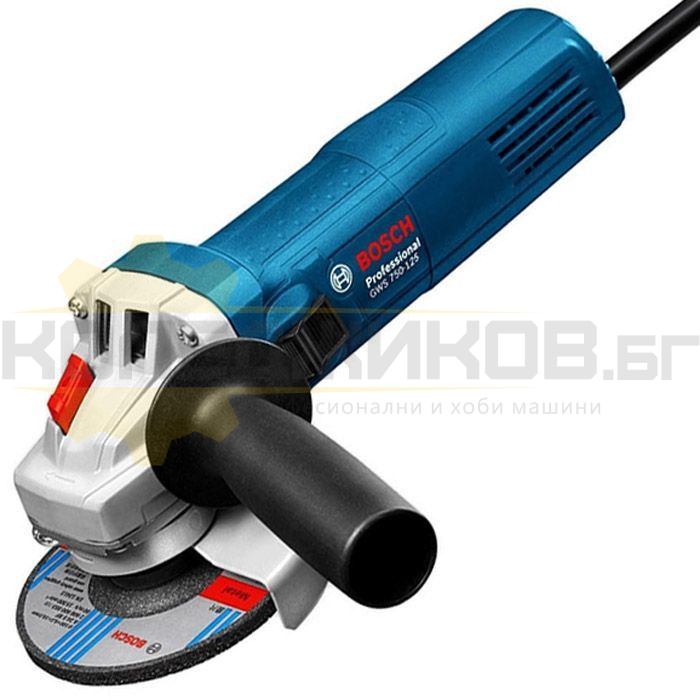 Електрически ъглошлайф BOSCH GWS 750-125 - 1