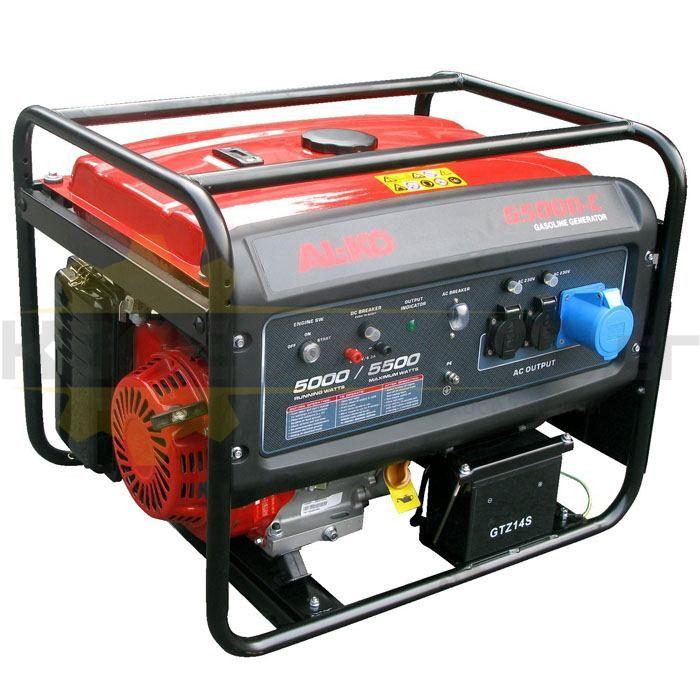 Бензинов монофазен генератор с ел старт AL-KO 6500-C - 1