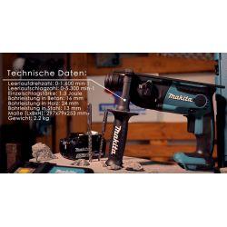 Акумулаторен перфоратор SDS-plus MAKITA DHR165Z - 8