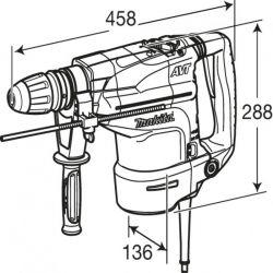 Електрически перфоратор SDS-Max MAKITA HR4511C - 6