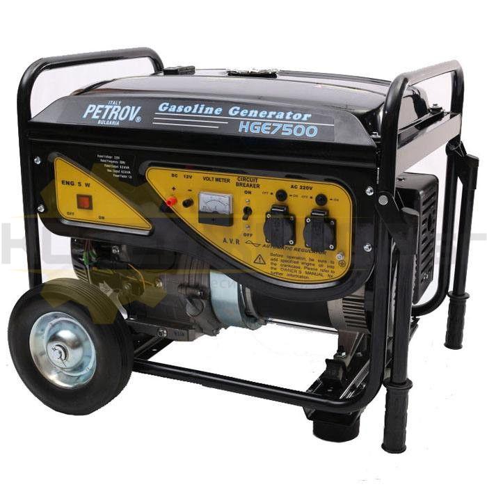 Бензинов монофазен генератор PETROV HGE7500 - 1