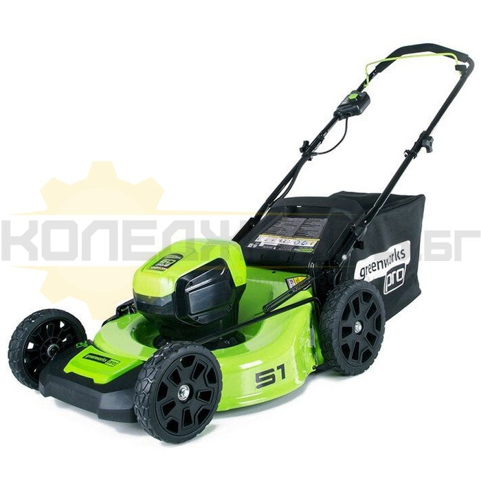 Акумулаторна косачка GreenWorks GD60LM51HP - 1