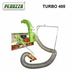 Професионален прикачен листосъбирач PERUZZO TURBO 400 Honda 13 к.с., 5м, 110 куб.м/мин - 3
