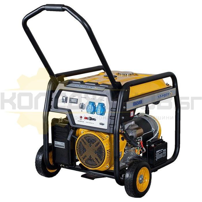 Бензинов монофазен генератор с ел старт и AVR PROENERG Stager FD 6500E - 1