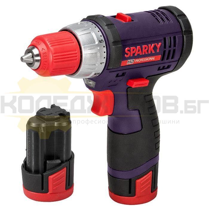 Акумулаторен винтоверт SPARKY BR2 10.8Li-C HD - 1