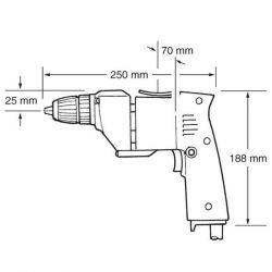 Електрическа бормашина MAKITA 6510LVR - 4