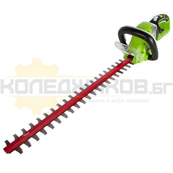 Акумулаторен храсторез GreenWorks G40HT61K2 - 1